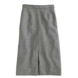 J.Crew A-line Midi Skirt in Double Serge Wool 4
